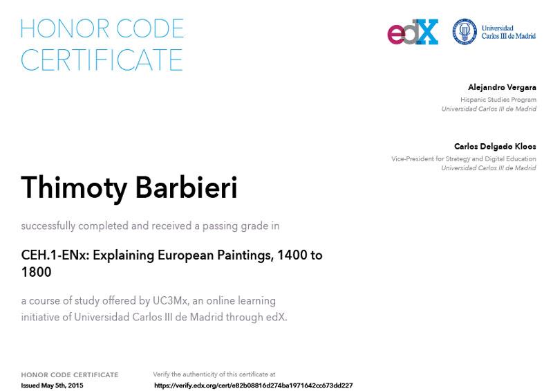 EDX - Explaining European Paintings, 1400 to 1800