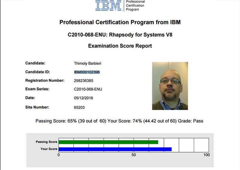 IBM Certified Specialist - Rhapsody for Systems V8