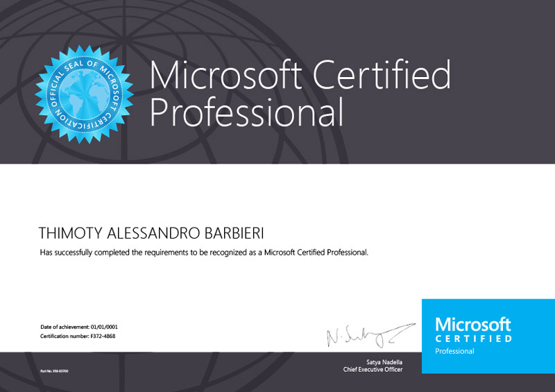 MICROSOFT - Certified Professional