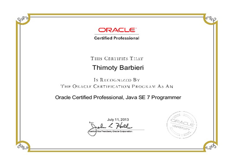 ORACLE - Java SE 7 Programmer