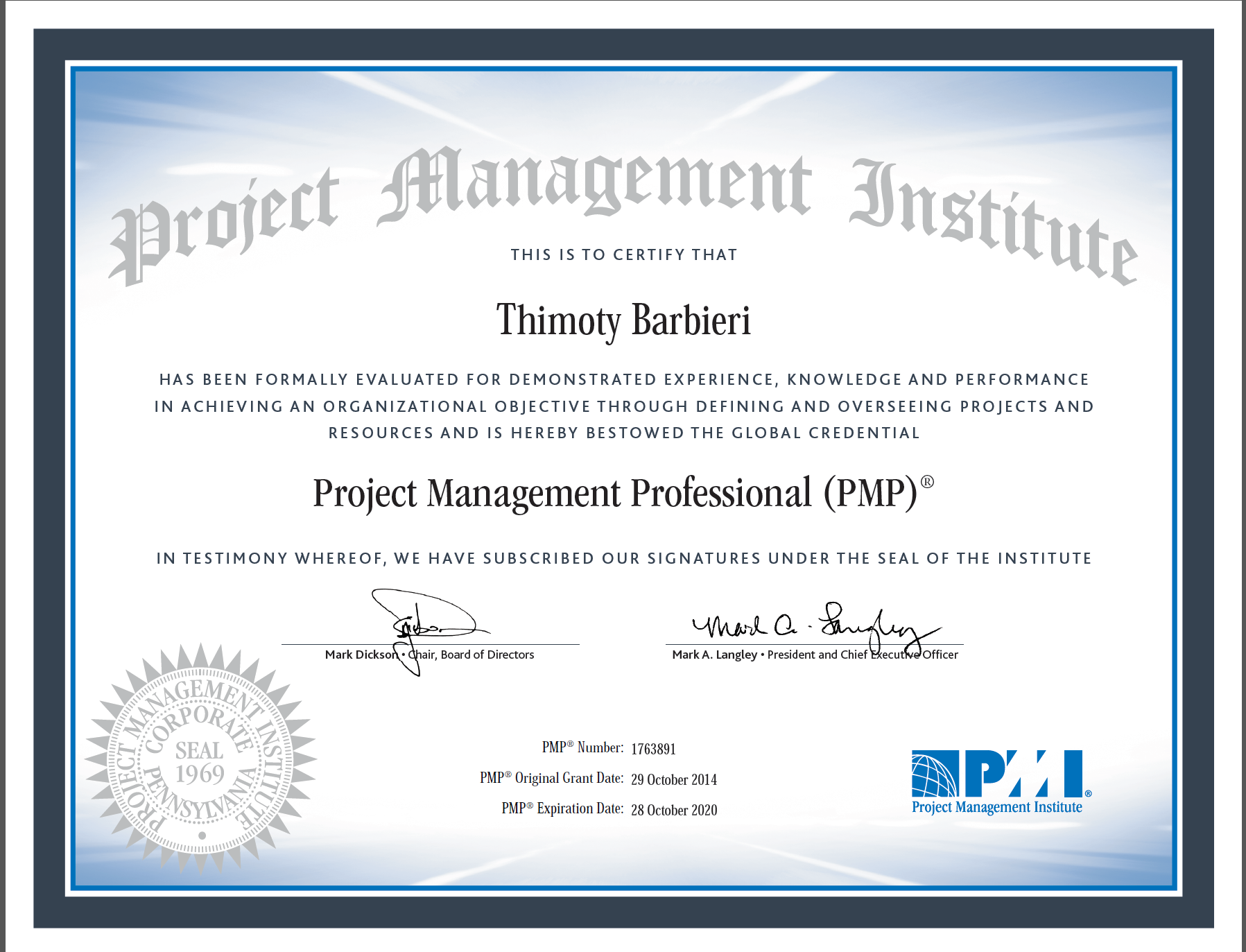 PMI – Project Management Professional