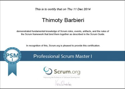 SCRUM – Professional Scrum Master I
