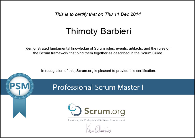 SCRUM - Professional Scrum Master I