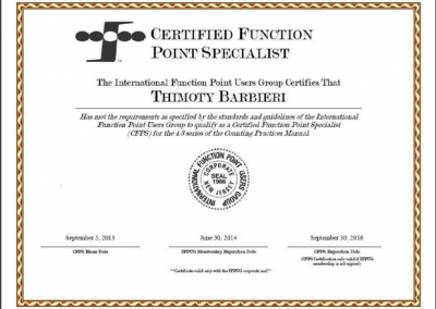 CFPS Certified Function Point Specialist