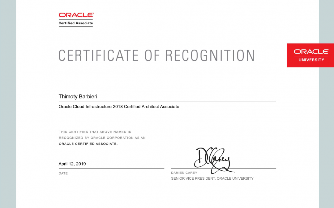 Oracle Cloud Infrastructure Certified Architect