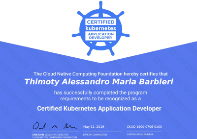 Certified Kubernetes Application Developer
