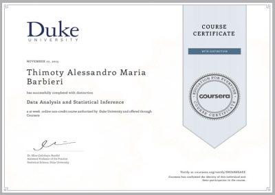 DUKE UNIVERSITY – Data Analysis and Statistical Inference
