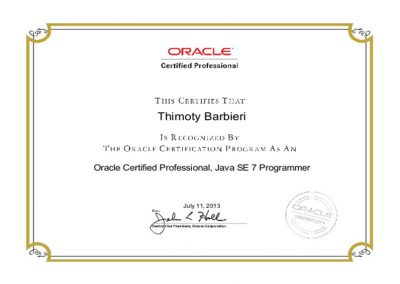 ORACLE – Java SE 7 Programmer
