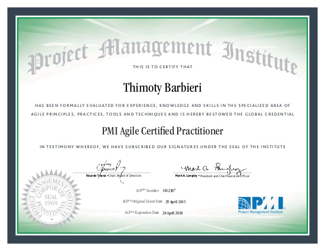 PMI-ACP Agile Certified Practitioner