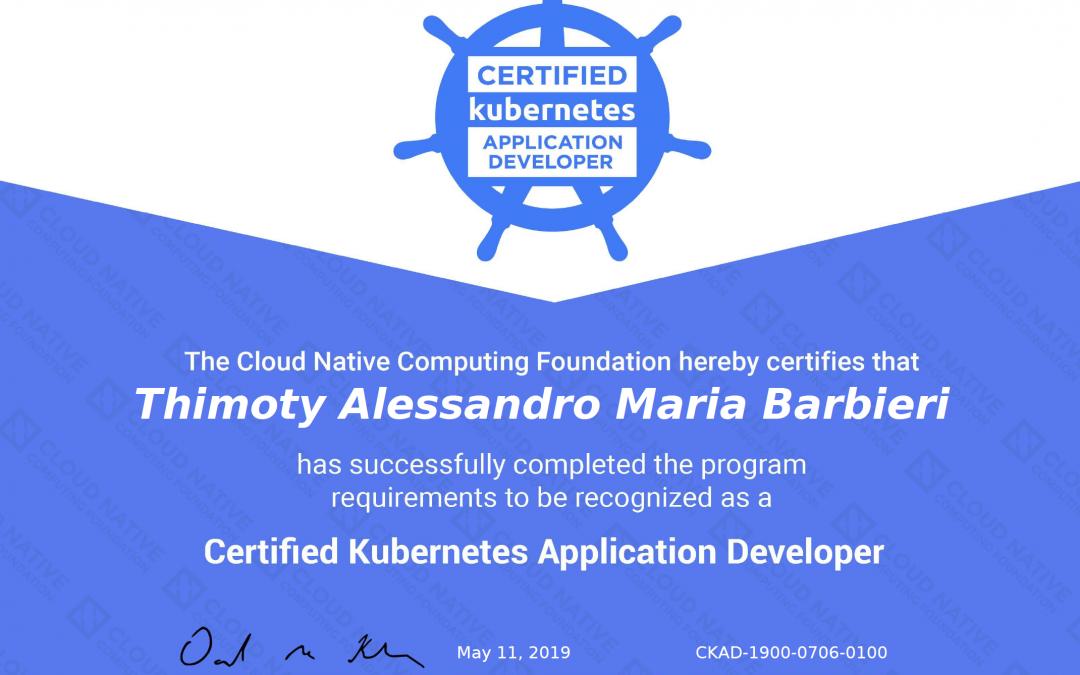 Certified Kubernetes Application Developer